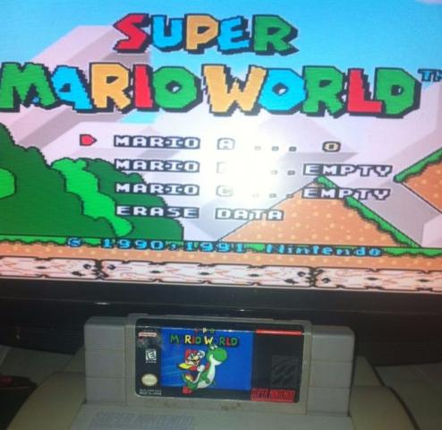 Fita Mario World Original Super Nintendo