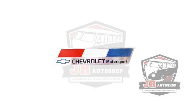 Emblema Placa Chevrolet Motosport França