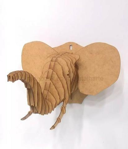 Cabeça animal - Quebra Cabeça 3d Em Mdf - Foto 4