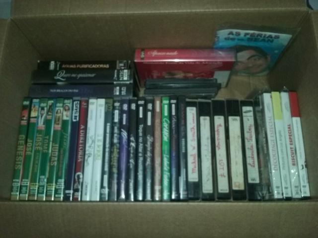 Lote de cds e dvds evangélicos