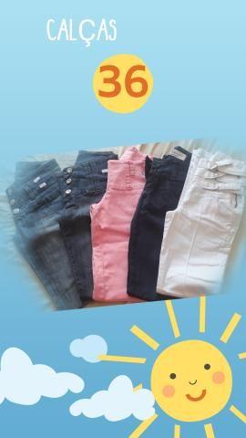 Calças jeans fabricadas pra Purpurina e Duda Dreams numero 36 - Foto 2