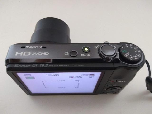 Câmera Digital Sony DSC-HX5 + cartão memória 8GB - Foto 3