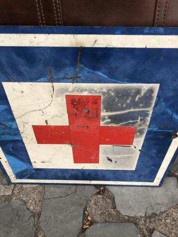 Placa Antiga de Trânsito de Mineradora - Foto 4