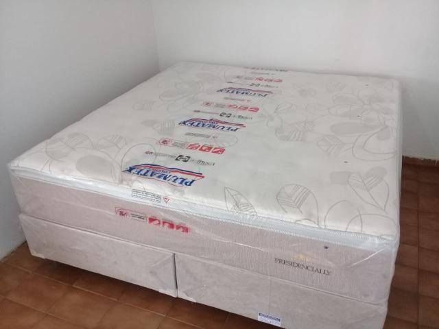 Cama box king size molas ensacadas preço baixissimo/1999 nos cartões - Foto 4
