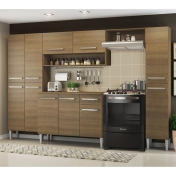 Cozinha Completa Madesa Emilly com Armário e Balcão Rustic - Foto 2
