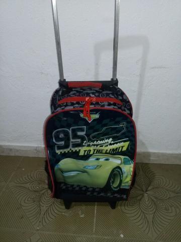 mochila com carrinho do desenho animado carros artigos infantis