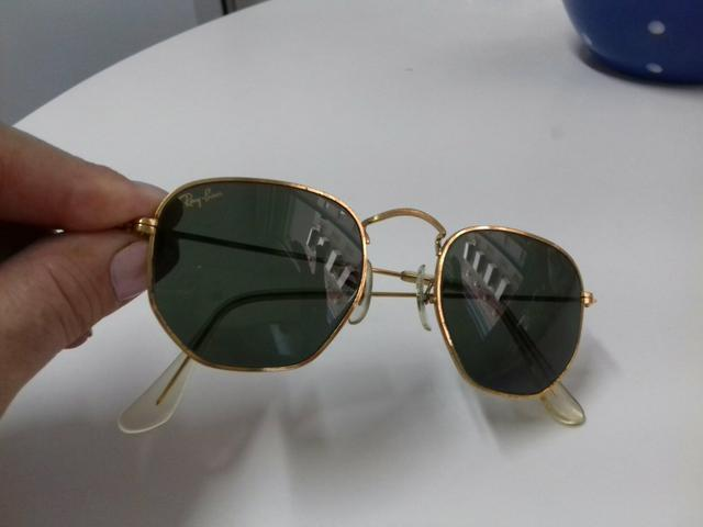 Óculos Ray-Ban Hexagonal Dourado - Bijouterias, relógios e ... a612d103f1