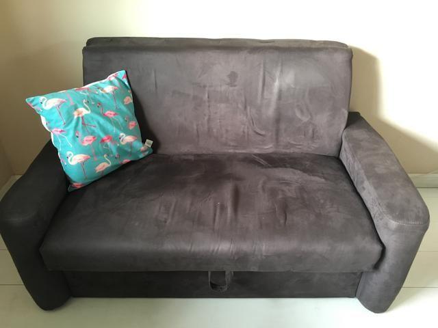 e8a05815e Sofa Cama Com Bau Pouco Usado Moveis Tanque Rio De Janeiro