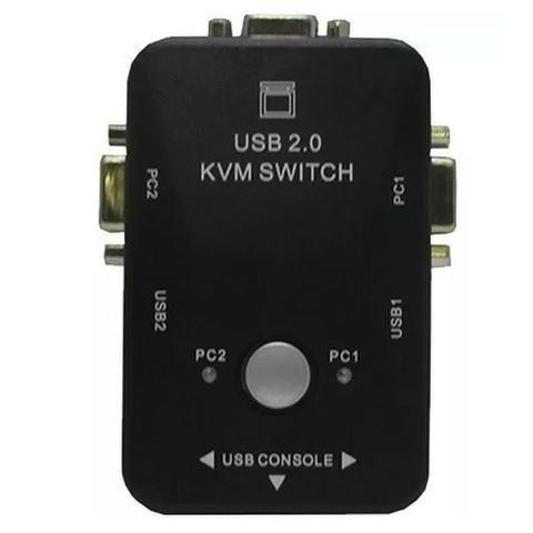 Switch KVM 2 Portas -21UA - USB 2.0 para 2 Monitores - Loja Natan Abreu - Foto 2