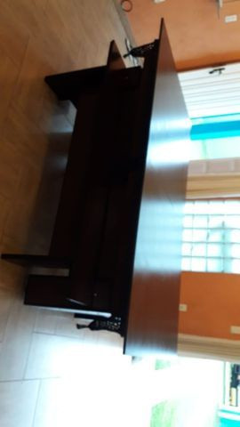 Mesa Charme Carlin Cor Preta Tecido Amarelo Mod. RZRP8935 - Foto 3