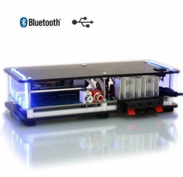 Kit Som Ambiente amplificador Bluetooth + 4 arandelas de embutir - Foto 4