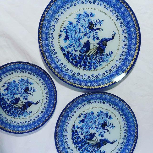 Finos kits de  pratos de pavão, servir ou decorar - Foto 5