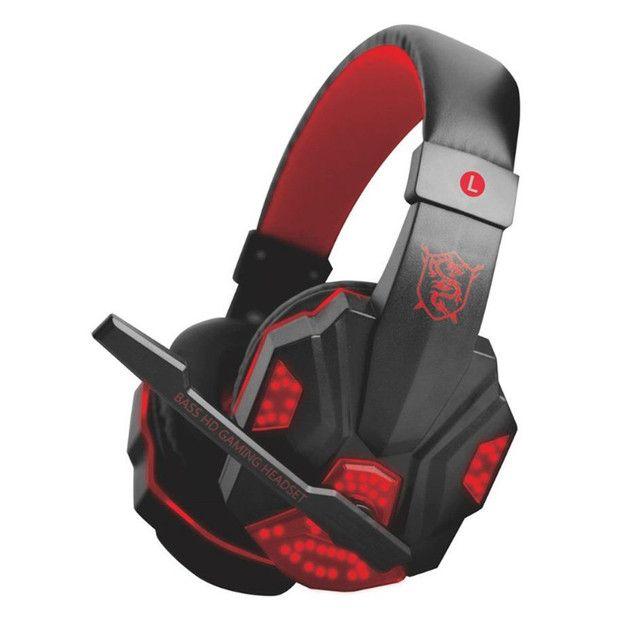 Fone spider Stereo Surround Gaming Headset Headphone com microfone cancelamento de ruído. - Foto 5