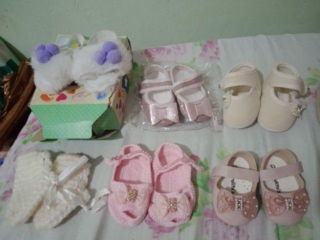Lote de sapatinhos 11 pares menina