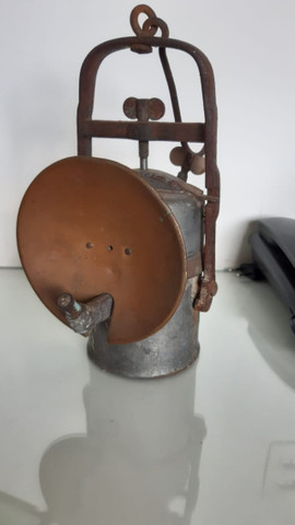 Lanterna de Carbureto antiga - Foto 4