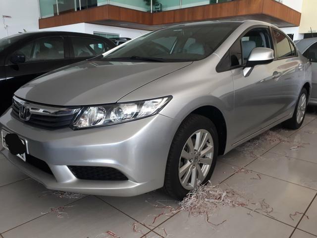 Honda Civic Lxs1.8 Cinza 2012/2013 Flex