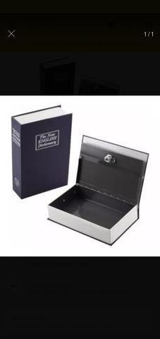 Cofre Com Chave camuflado Livro