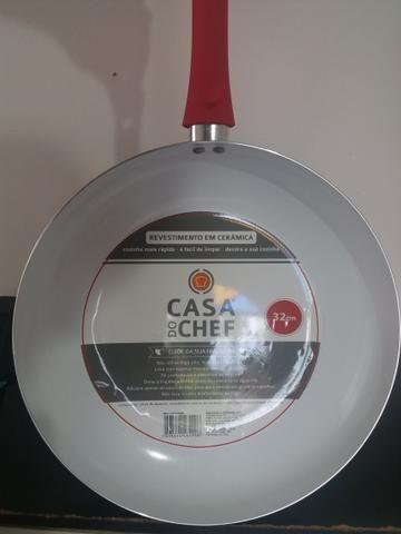 Frigideira Cerâmica + Espátula - Não gruda nada! - Foto 6
