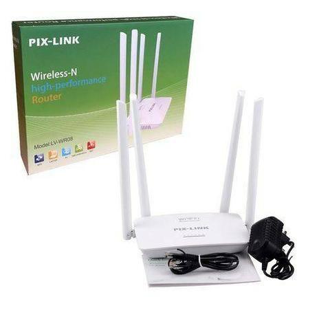 Modem Duplicador e Roteador Wifi 4 antenas Pix Link 300 KBPS