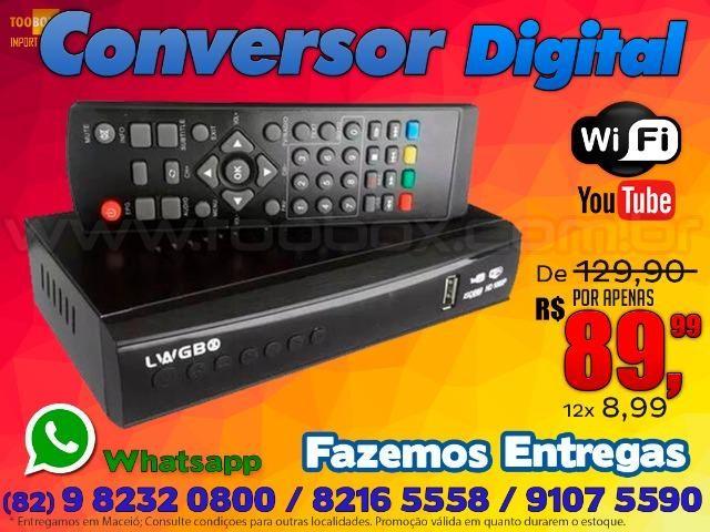 Conversor Digital de Tv com Wifi Youtube - Fazemos Entregas