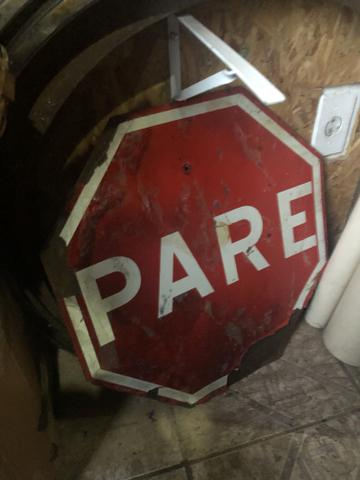 Placa Antiga de Trânsito de Mineradora - Foto 3