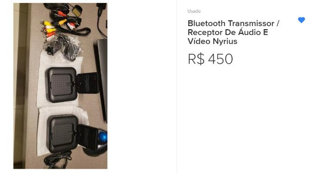Transmissor E receptor Áudio Vídeo Wireless 5.8GHz