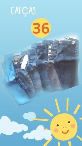 Calças jeans fabricadas pra Purpurina e Duda Dreams numero 36