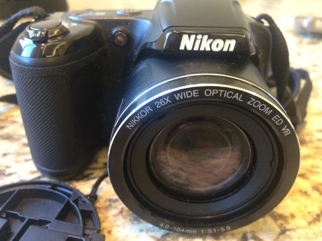 Câmera Nikon Coolpix - 16Mp - SuperZoom 26x na Lente