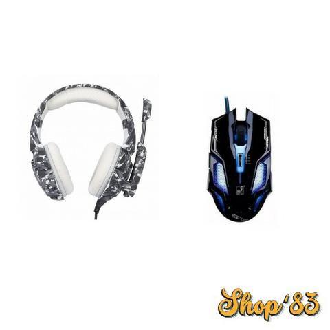 Kit Gamer Headphone Profissional + Mouse - Promoção