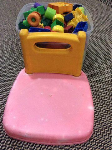 Cadeirinha de Lego. - Foto 4