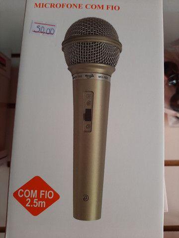 Microfone com fio 2,5m - Foto 3