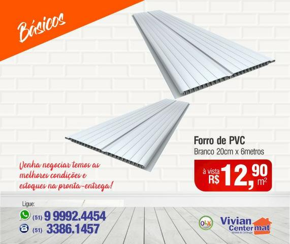 Forro PVC 20cm x 6m - Branco Frizado