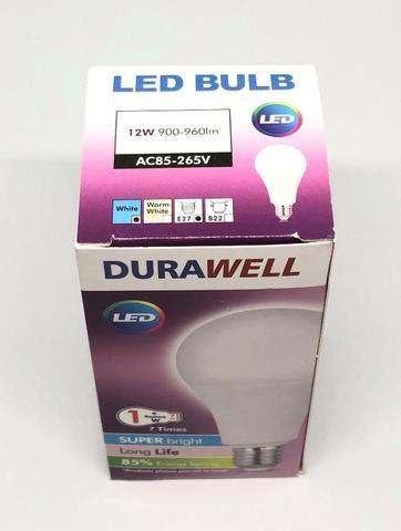 Lâmpada 12w Bulbo Led Super Branca Bivolt Econômica Durawell Nova na Caixa - Foto 4