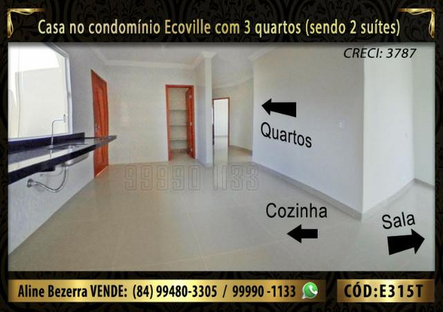 Oportunidade, casa no Ecoville com 3 quartos sendo 2 suítes, aceita financiamento - Foto 5