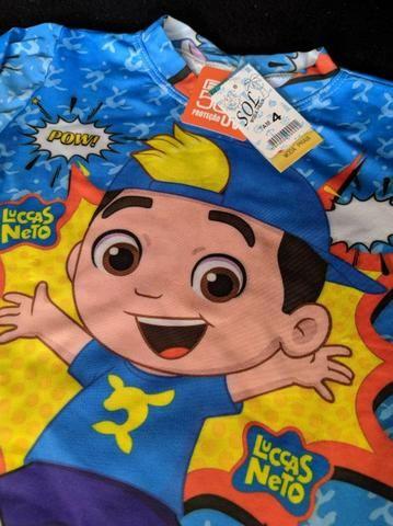 Conjunto menino infantil Luccas Neto com proteção UV50+ - Foto 2