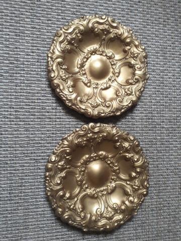 Par de pratos Portugueses em bronze