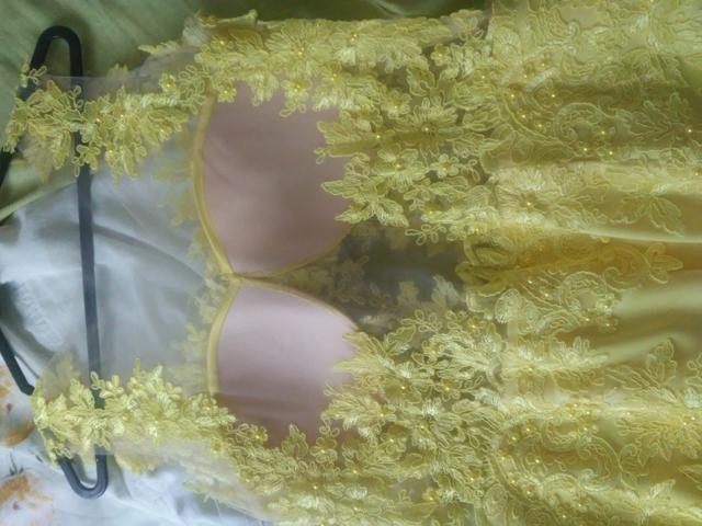 Vestido Festa Amarelo(Alta Costura) - Foto 4