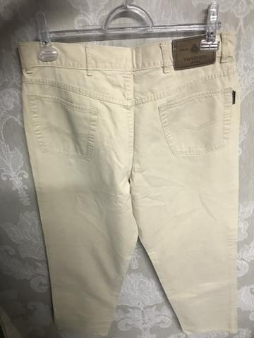 Calça sarja via Vêneto, masculina, tamanho 44, elegante - Foto 6