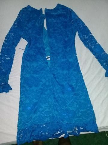 Vestido de renda azul - Foto 3