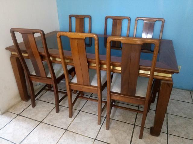 VENDO Mesa de madeira 6 cadeiras