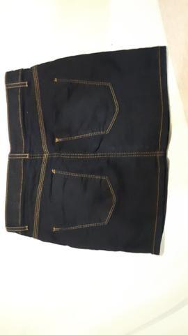 Saia Jeans escuro - Foto 2