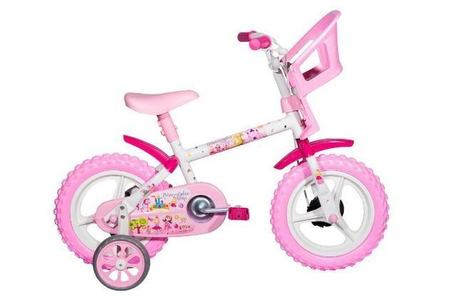 c24fb2612 Bicicleta Infantil Aro 12 Princesinhas de 3 a 5 anos - Produto Novo ...