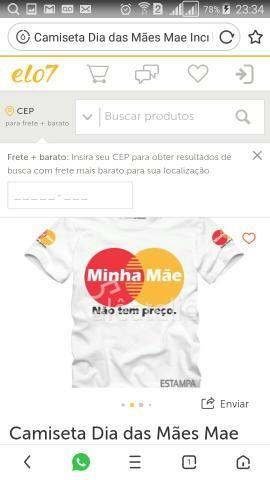bfd01250cf Camisas e canecas personalizados para o dia das mães 991844026 leia o texto  abaixo
