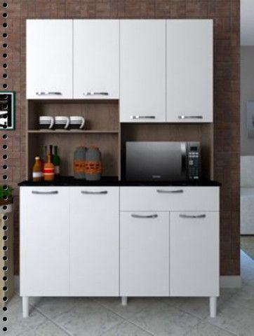Mega Premium - Armário Cozinha 8portas -Frete Grátis