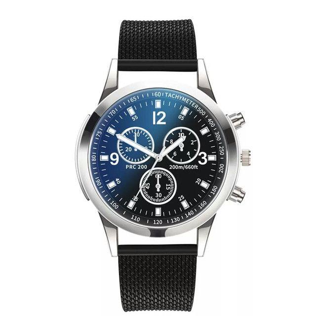 Relógio básico casual analógico de quartzo Aço Inoxidável - Foto 2