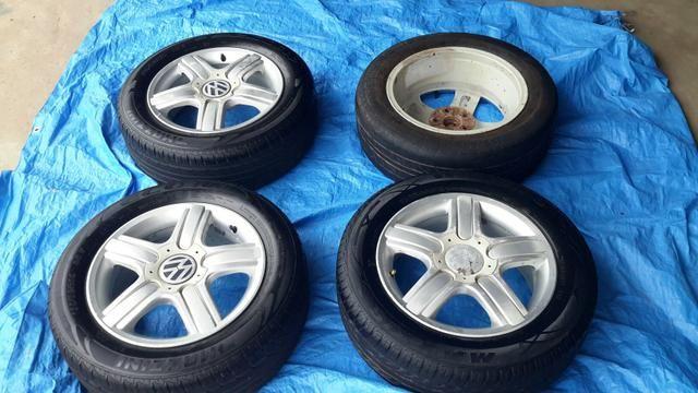 """Vendo jogo de rodas com pneus aro 15"""" - Foto 2"""