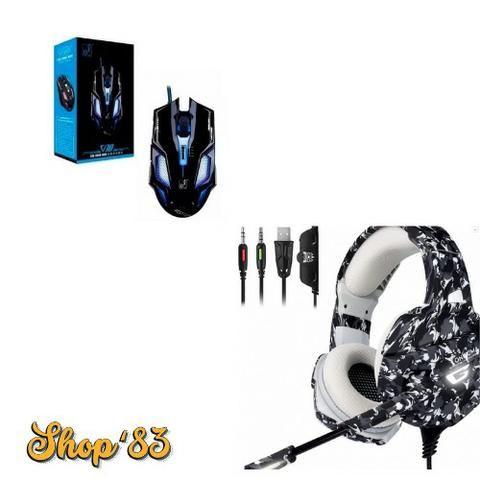 Kit Gamer Headphone Profissional + Mouse - Promoção - Foto 2