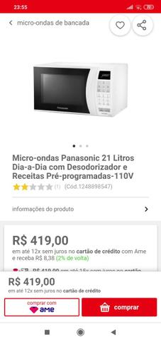 Microondas Panasonic 21 Litros - Foto 3