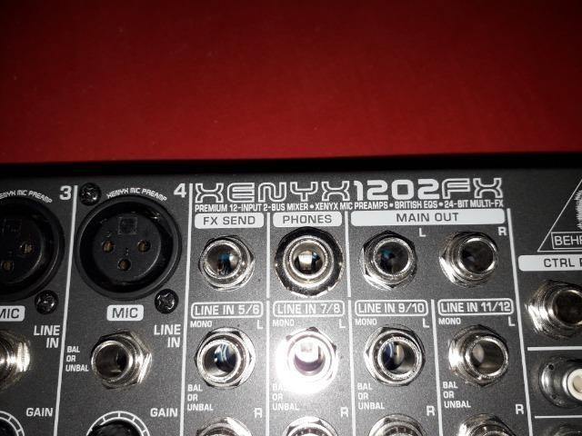 Excelente Mesa de Som Behringer Xenix 1202FX (12 canais) - Baixei para entregar! - Foto 5