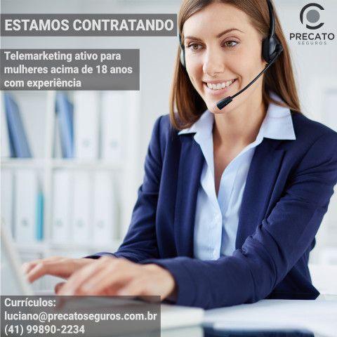 Vagas para telemarketing